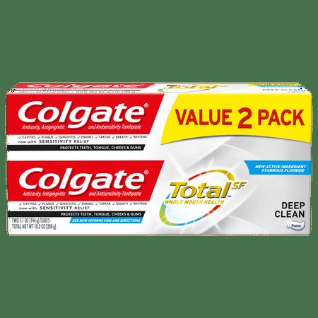 Colgate Total Toothpaste, Deep Clean, 5.1 oz. 2-pack - Paste