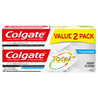 Colgate Total Toothpaste, Deep Clean, 5.1 oz. 2-pack - Paste