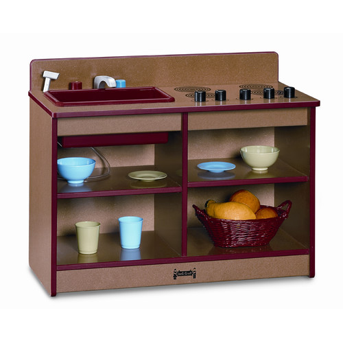 2-in-1 Toddler Kitchen-Color:Red