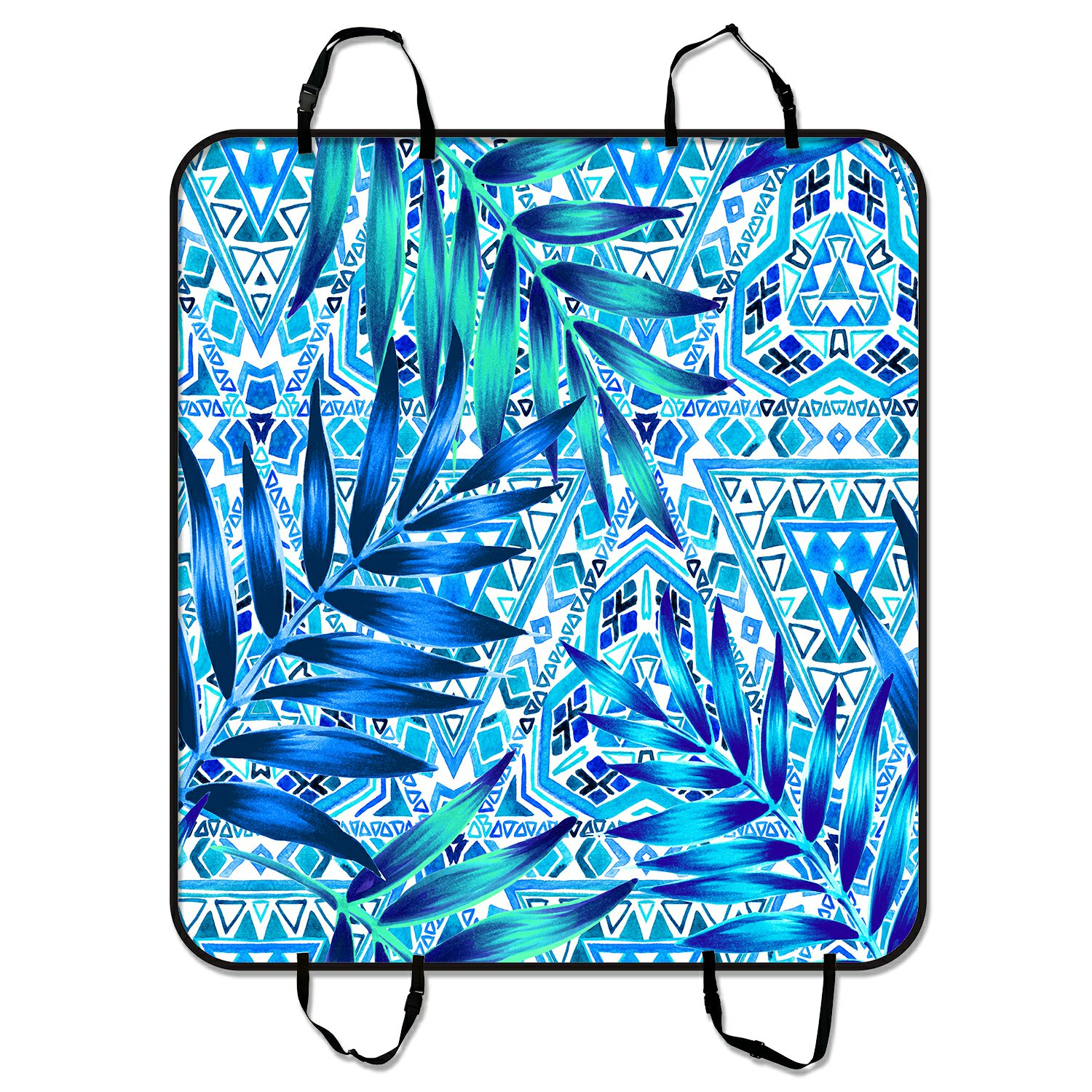 PHFZK Geometric Pet Car Seat Cover, Tropical Palm Leaves ...
