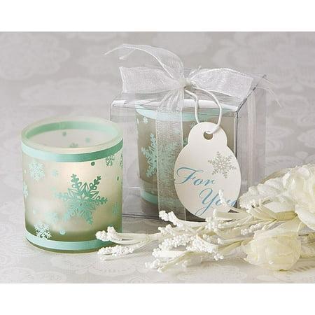 Snowflake Tea - Winter Lights Snowflake Tea Light Candle Holder (Pack of 4)