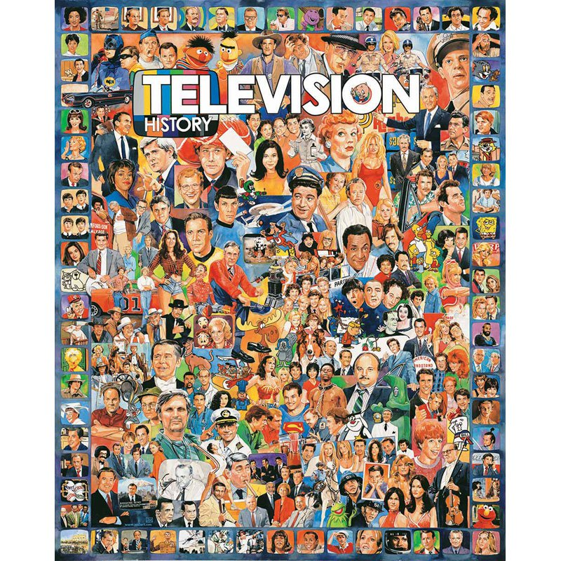 White Mountain Puzzles Television History 1000 Piece Jigsaw Puzzle by White Mountain Puzzles