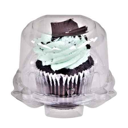 0d79f93ed213 Green Direct Cupcake Boxes - Clear Plastic Dome Standard size Cupcake  Holder Single Compartment Pack of 50