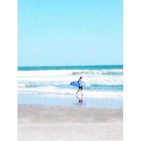 East Coast Surf Girl Poster Print by Kali Wilson (Best East Coast Surfing)