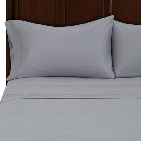 Hotel Style 500 Thread Count Egyptian Cotton Silver Bedding Full Sheet Set ()