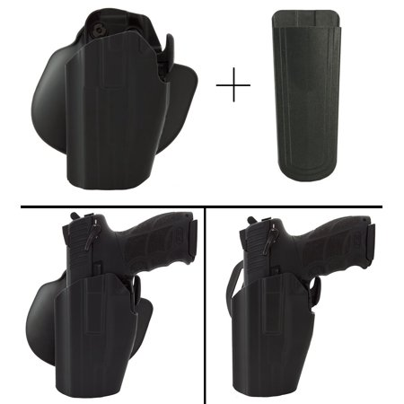 Safariland Rogers Holster SMITH & WESSON SD40VE SD9VE MODEL 469 Pro-Fit  578-283-412 7TS GLS Compact Frame Multi-Fit Paddle & Belt Left Hand, Black  +