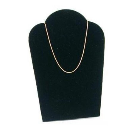 Black Velvet Padded Necklace Pendant Display Bust Easel 3 3/4
