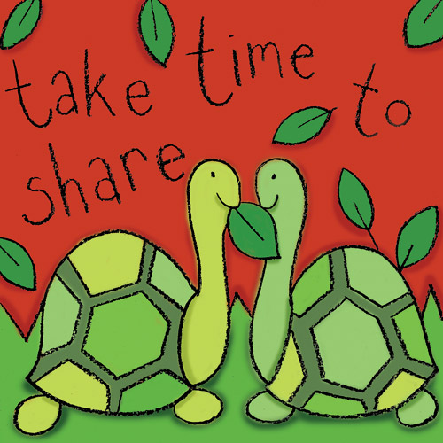 """""""Take Time to Share"""" Turtle Wall Art"""