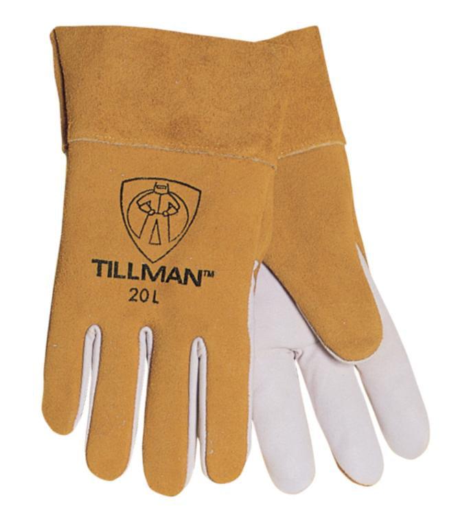 """Tillman 20 Premium Top Grain Kidskin 2"""" Cuff TIG Welding Gloves, Large"""