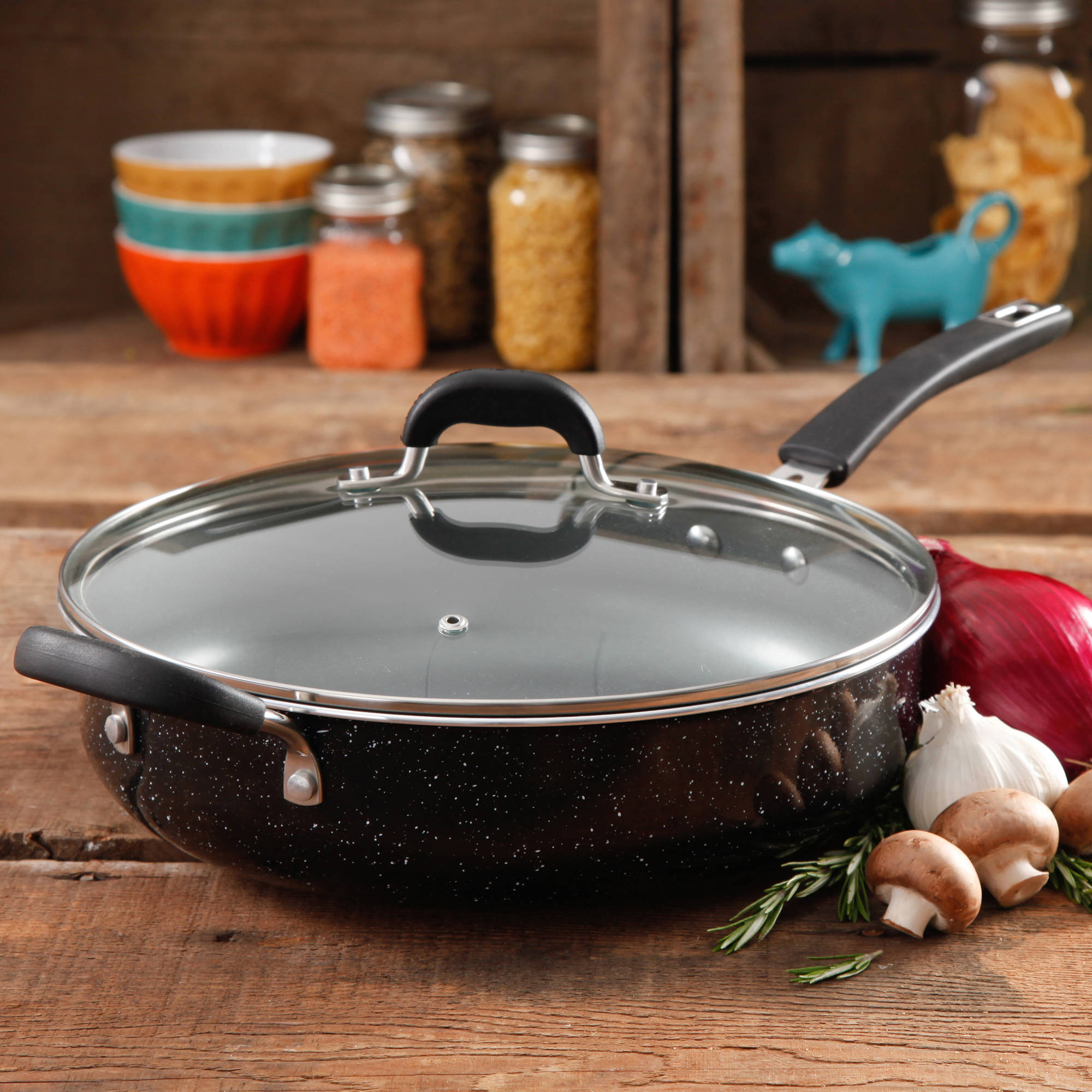 The Pioneer Woman Vintage Speckle Non-Stick Jumbo Cooker