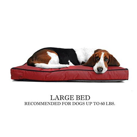 Venus Rectangle Pet Bed For Large Dog - Replaceable Durable Washable Cover - 27