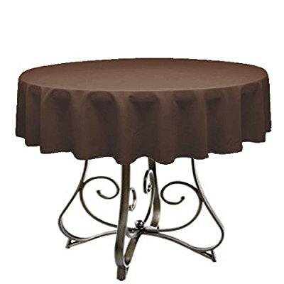 by florida tablecloth factory round 60 tablecloth home line indoors (brown)