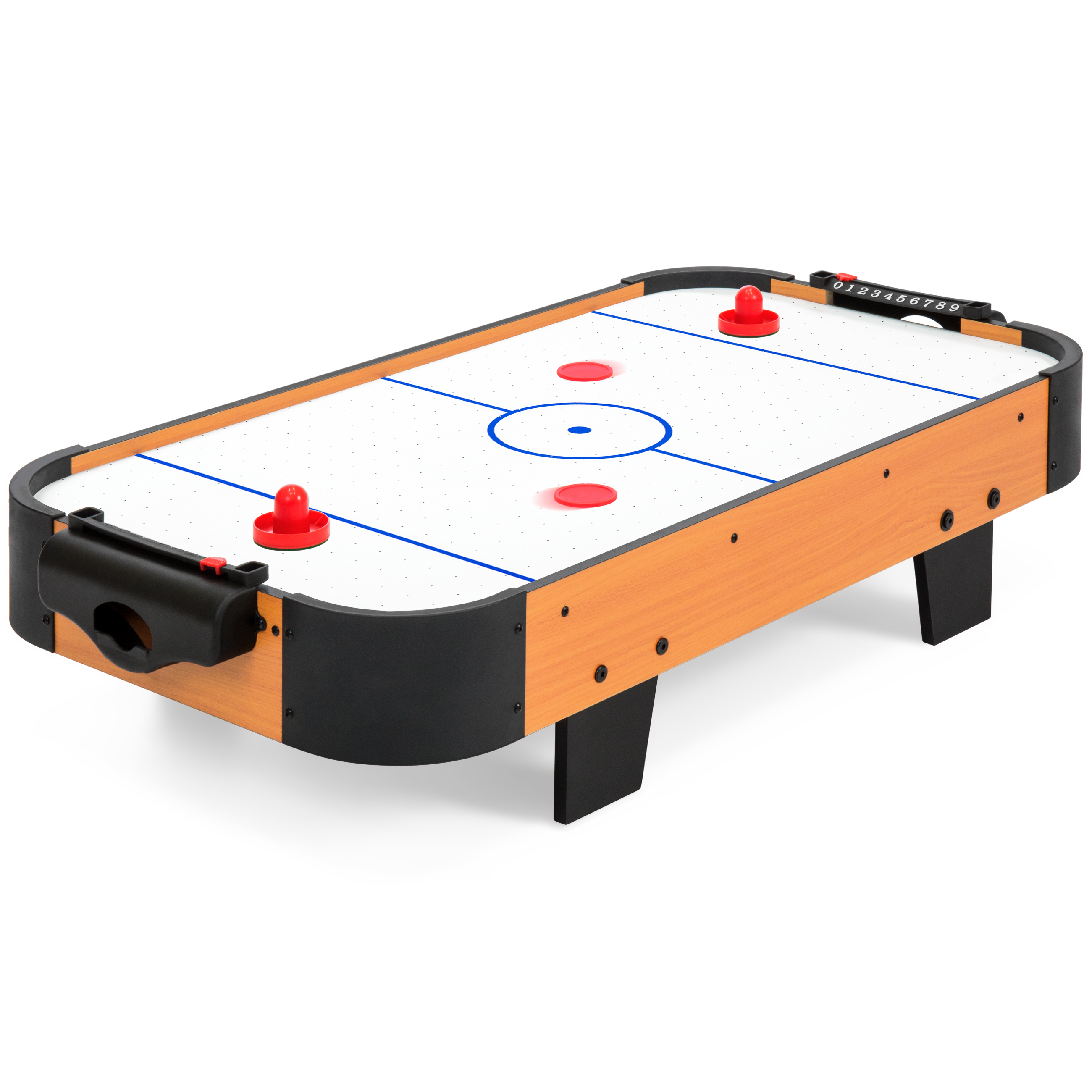 Best Choice Products 40in Air Hockey Table w  Electric Fan Motor, 2 Sticks, 2 Pucks Multicolor by Best Choice Products