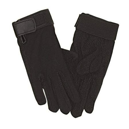Perri's Adult Cotton Gloves, Black, -