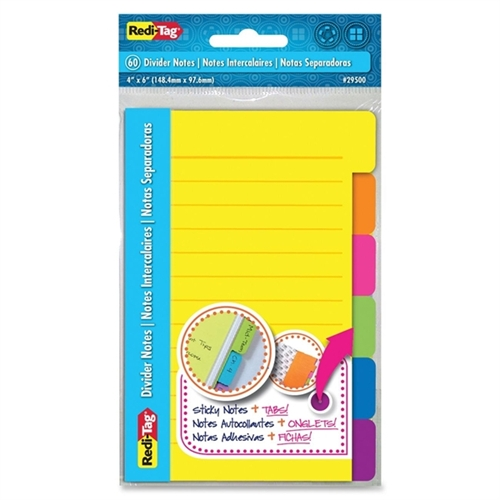 REDI-TAG CORPORATION 4'' x 6'' 60 Count Divider Note