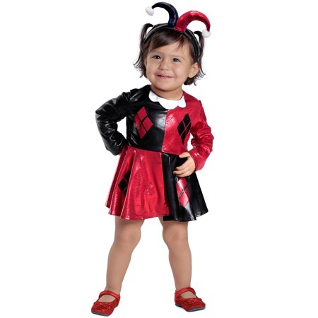 7a7b18497f2a61 Harley Quinn Dress and Diaper Cover Infant Toddler Costume - Walmart.com