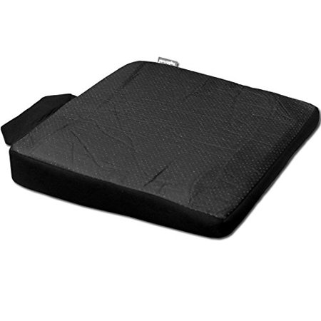 Ergonomic Seat Wedge (New Breathable Comfortable Orthopedic Ergonomic Orthopedic Wedge Car Seat Office Chair Back Lumbar Support Cushion (Black Synthetic)