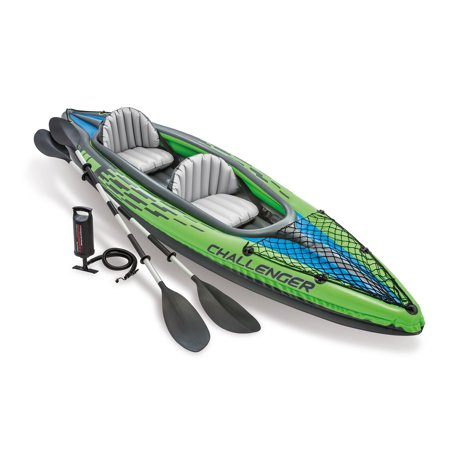 Intex Challenger K2 Inflatable Kayak with Oars and Hand (Best Pump For Inflatable Kayak)