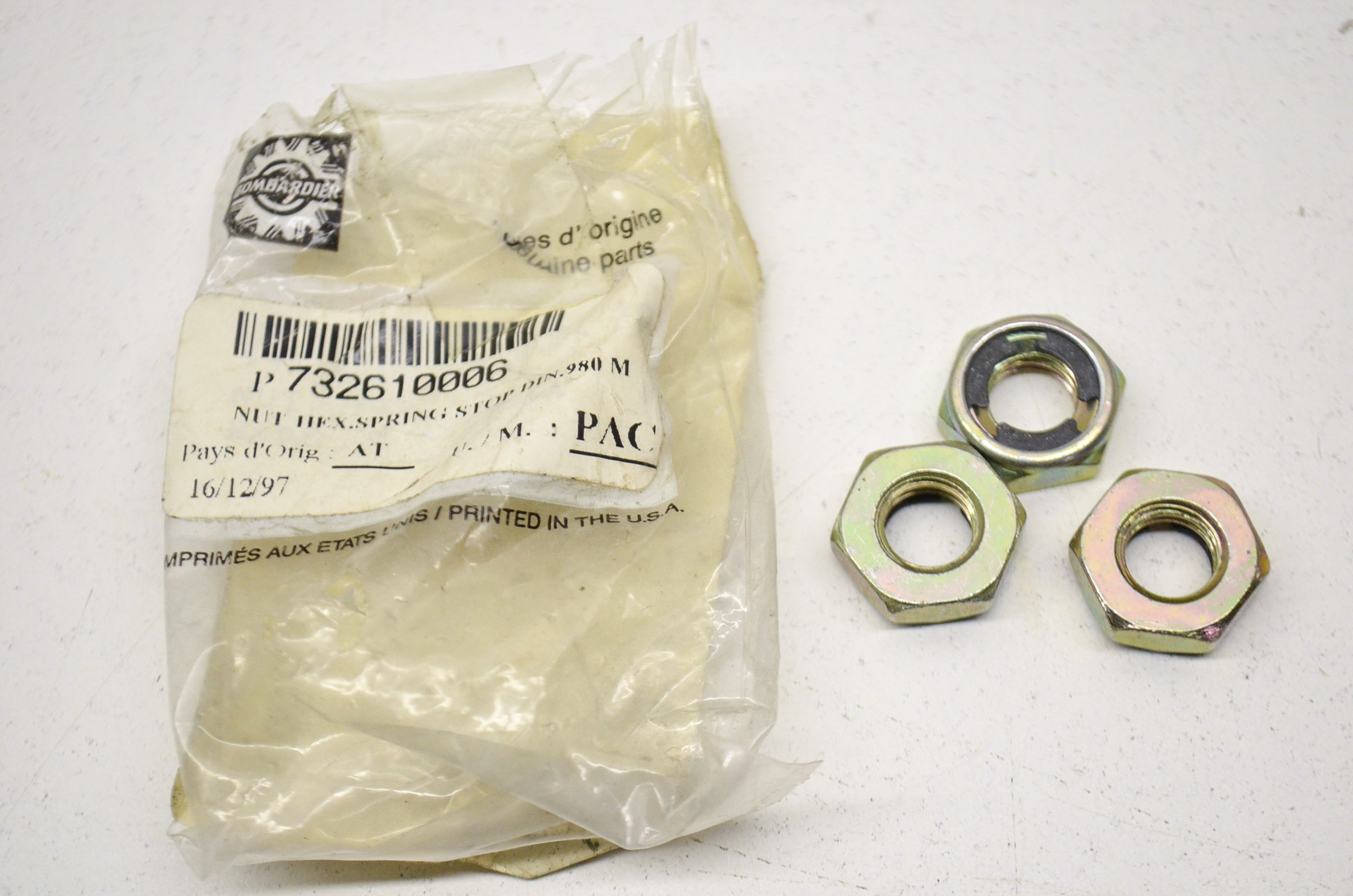 BRP, Can-Am, Sea-doo, Ski-Doo 732610006 Ski-Doo Spring Lock Nuts QTY 3 QTY 1 by BRP, Can-Am, Sea-doo, Ski-Doo