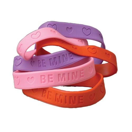 (Price Dozen)US TOY V158 Valentine Rubber Band Bracelets by US Toy