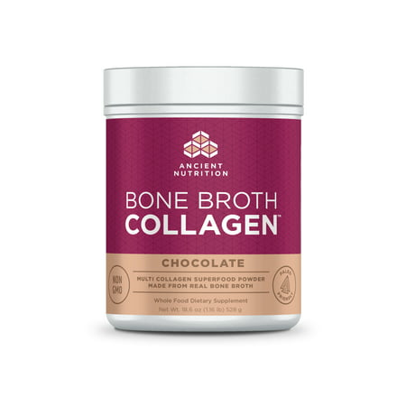 Ancient Nutrition, Bone Broth Collagen, Chocolate, 30
