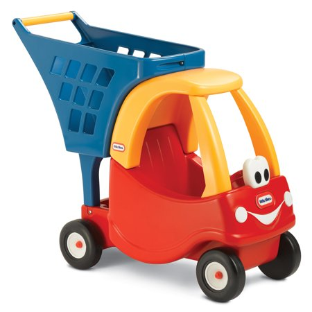 Little Tikes Cozy Coupe Kids Pretend Play Fun Grocery Store Shopping Cart, Red