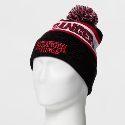 Stranger Things Mens Pom Beanie Cap Hat (Atlanta Beanie With Pom)