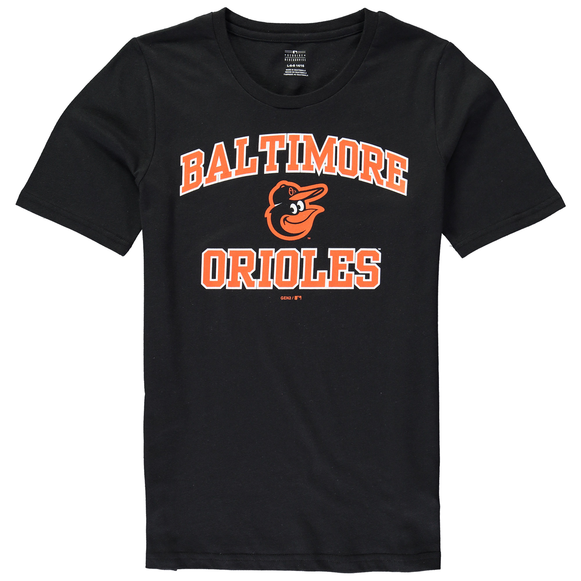 Baltimore Orioles Youth Heart & Soul T-Shirt - Black