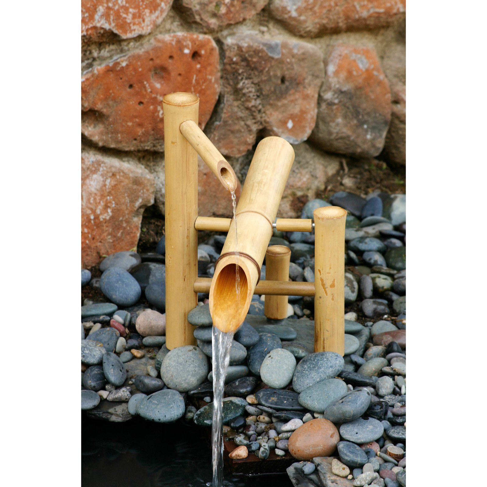 Bamboo Accents 12-in. Rocking Fountain Spout and Pump Kit
