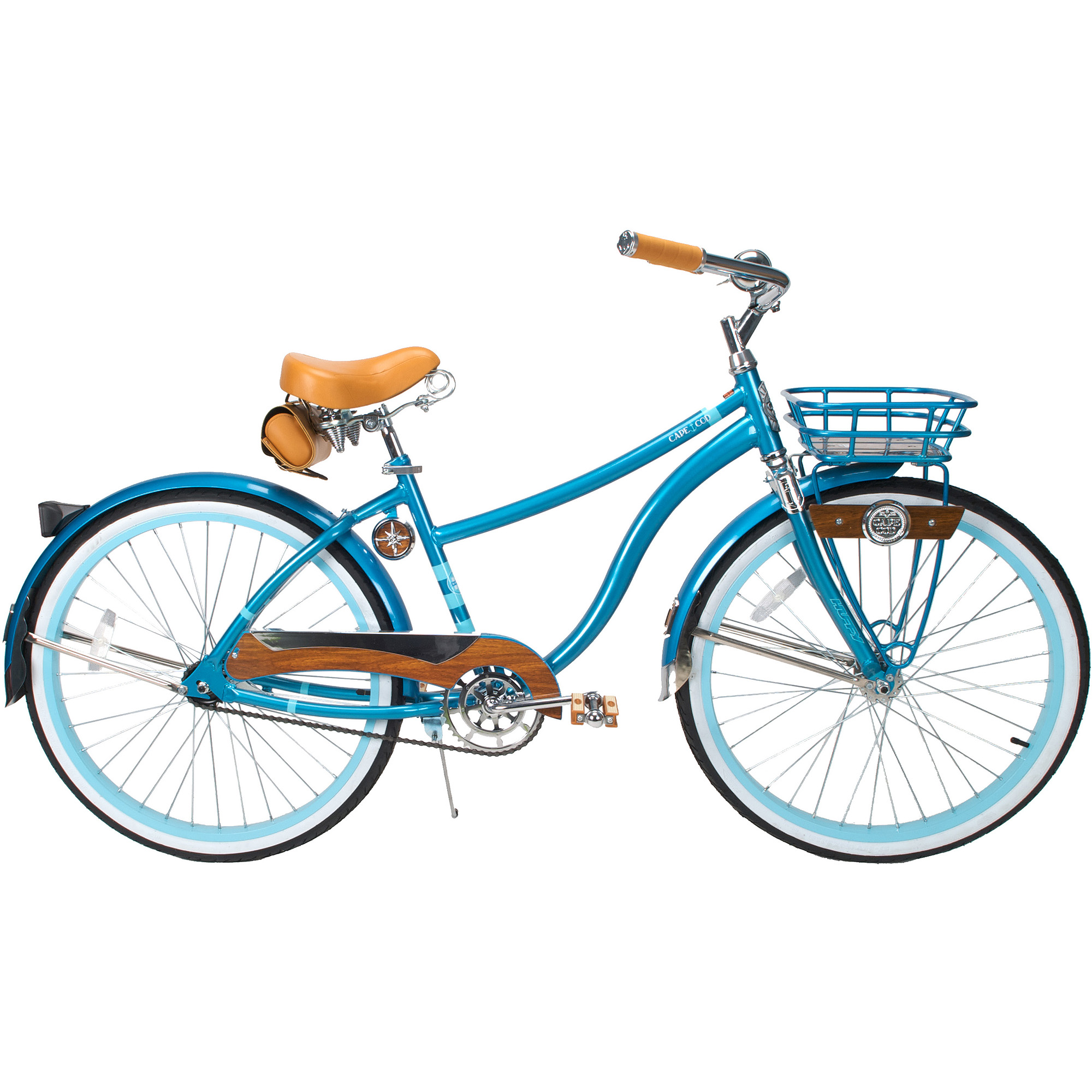 "26"" Huffy Cape Cod Women's Cruiser Bike, Metallic Aqua"