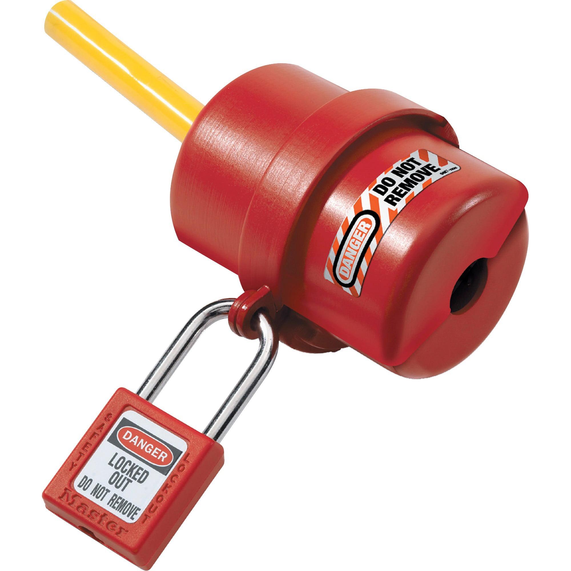 Master Lock, MLK487, Rotating Electrical Plug Lockout, 1 Each, Red