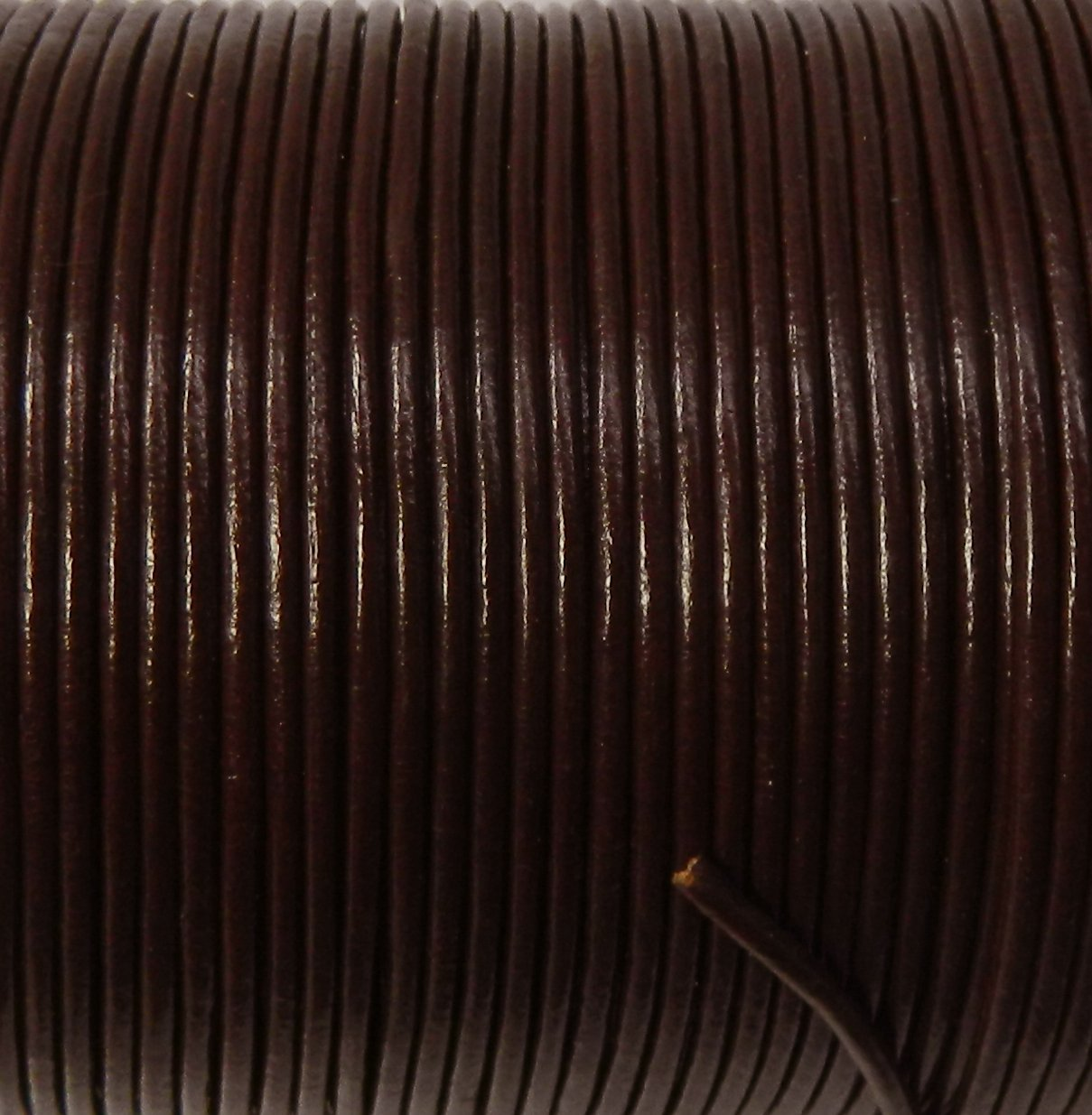 Imported India Leather Cord 2mm Round 5 Yards Medium Brown