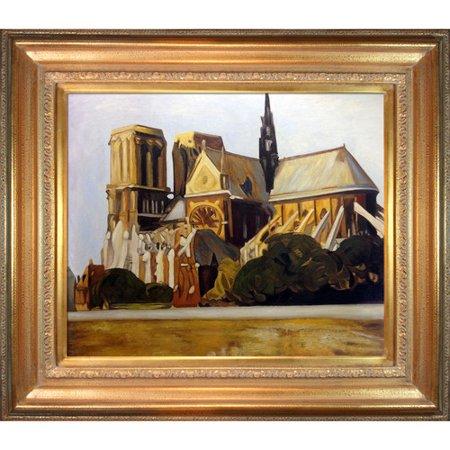 Tori Home Notre Dame de Paris, 1907 by Edward Hopper Framed Painting Print