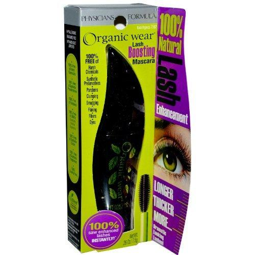 Physicians Formula Organic Wear 100% Natural Origin Lash Boosting Mascara, Black, 0.26 Ounce