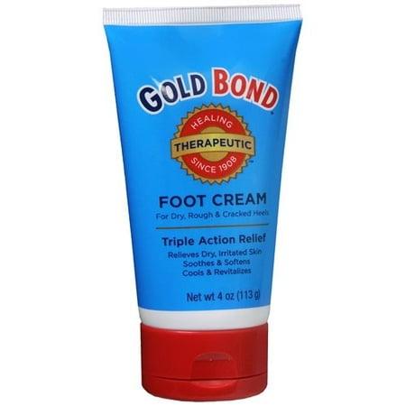 4 Pack - Gold Bond Crème Pieds thérapeutique 4 oz Chaque