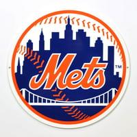 "New York Mets Circle 12"" Steel Sign"