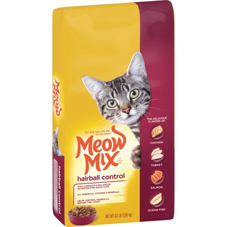 - Meow Mix Hairball Control Cat Food, 6.3-Pound