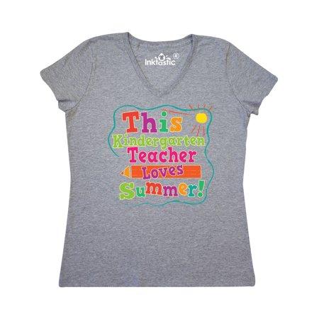 7e609fc1e Inktastic - Funny Kindergarten Teacher Gift Idea Women's V-Neck T-Shirt -  Walmart.com