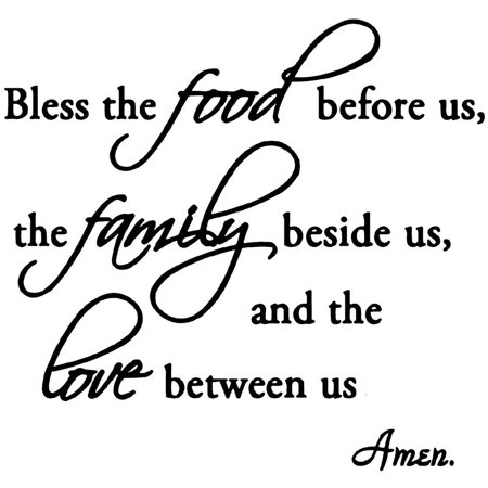 VWAQ Bless the Food Before Us, the Family Beside Us, and the Love Between Us Wall Decals Vinyl Wall Art Quotes Home Decor](Walmart Decor)