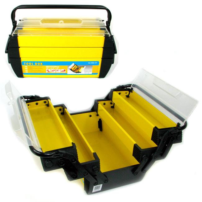 Deluxe Steel & Plastic Tool Box 18 x 8. 25 x 8. 75 inches