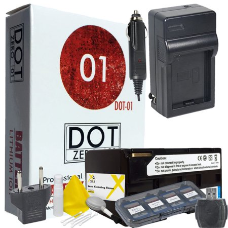 DOT-01 Brand 6600 mAh Replacement Canon BP-945 Battery and Charger for Canon XF300 Camcorder and Canon BP945 Accessory Bundle
