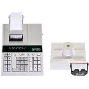 Monroe 2020PlusX 12-Digit Medium-Duty Color Printing Calculator/Adding Machine With Six Ribbons and Twelve Paper Rolls