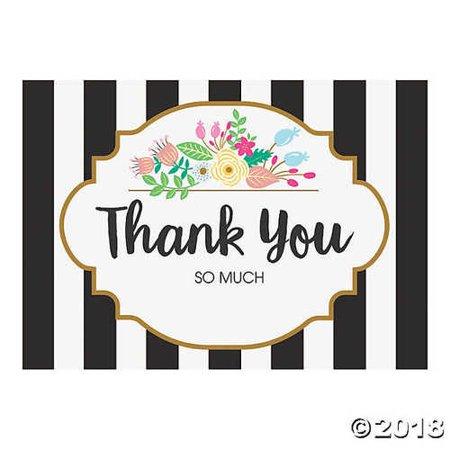Black & White Striped Bridal Shower Thank You Cards](Bridal Shower Thank You Cards)