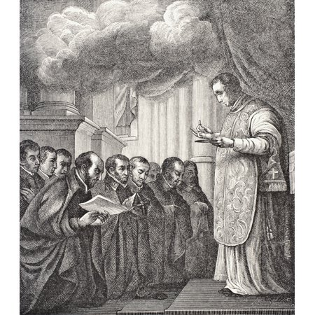 - Vow Of The First Companions Of St Ignatius In The Church Of Montmatre On Assumption Day 1534 Father Pierre Lefevre Saying Mass From Science And Literature In The Middle Ages By Paul Lacroix Published