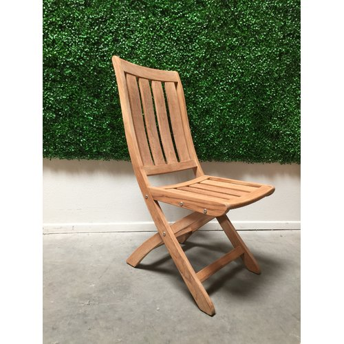 HiTeak Furniture Folding Teak Patio Dining Chair