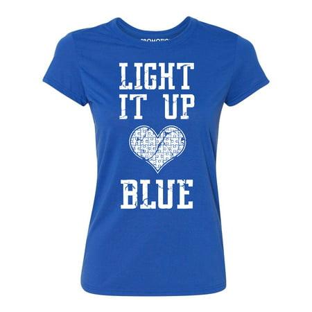 Light It Up Blue Autism Awareness Women's T-shirt, L, Royal