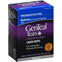 GenTeal Lubricant Eye Drops Sterile Single-Use Vials 36 ea (Pack of 2)