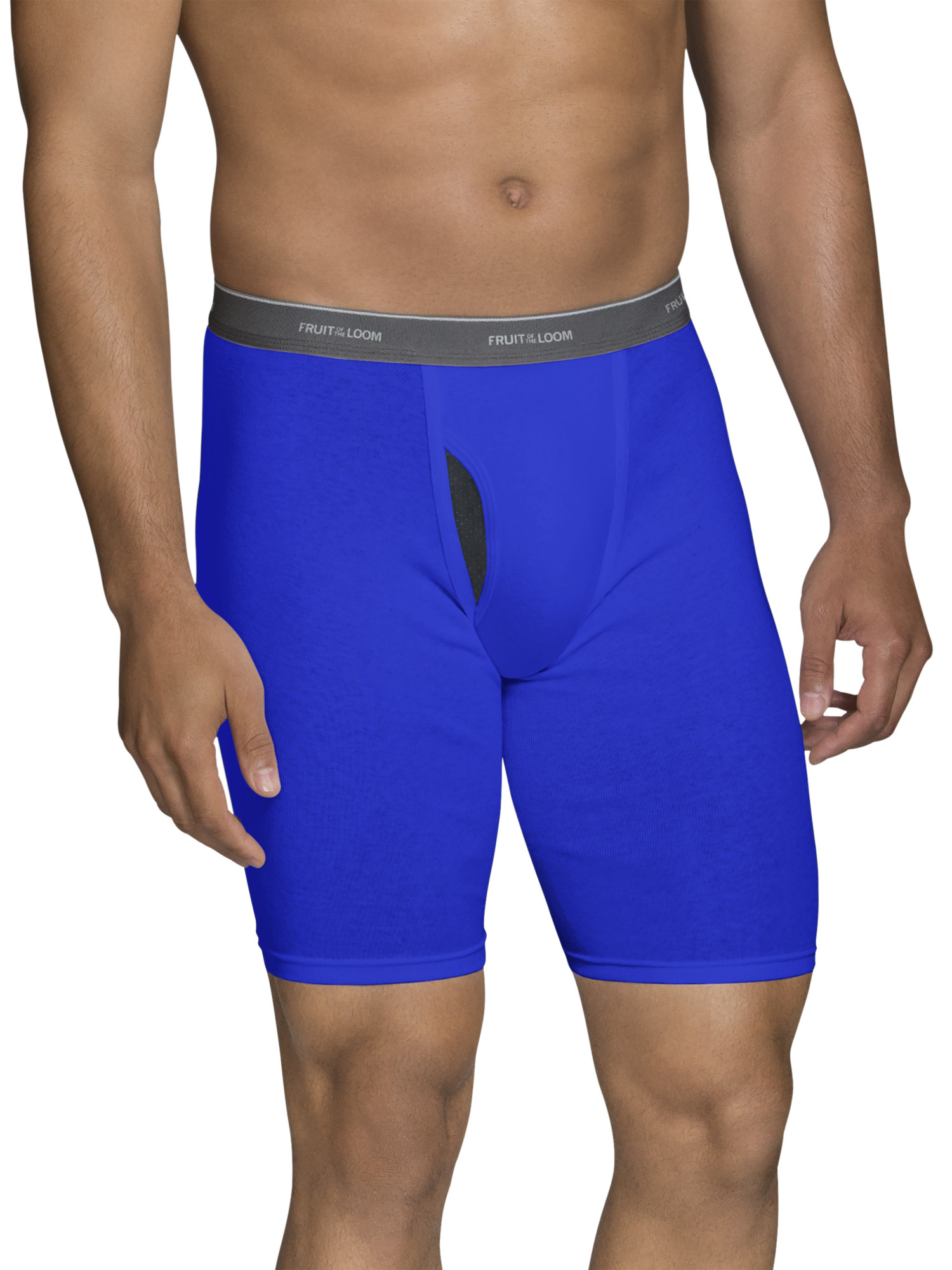 Big Men's CoolZone Fly Dual Defense Assorted Long Leg Boxer Briefs, Extended Sizes, 4 Pack