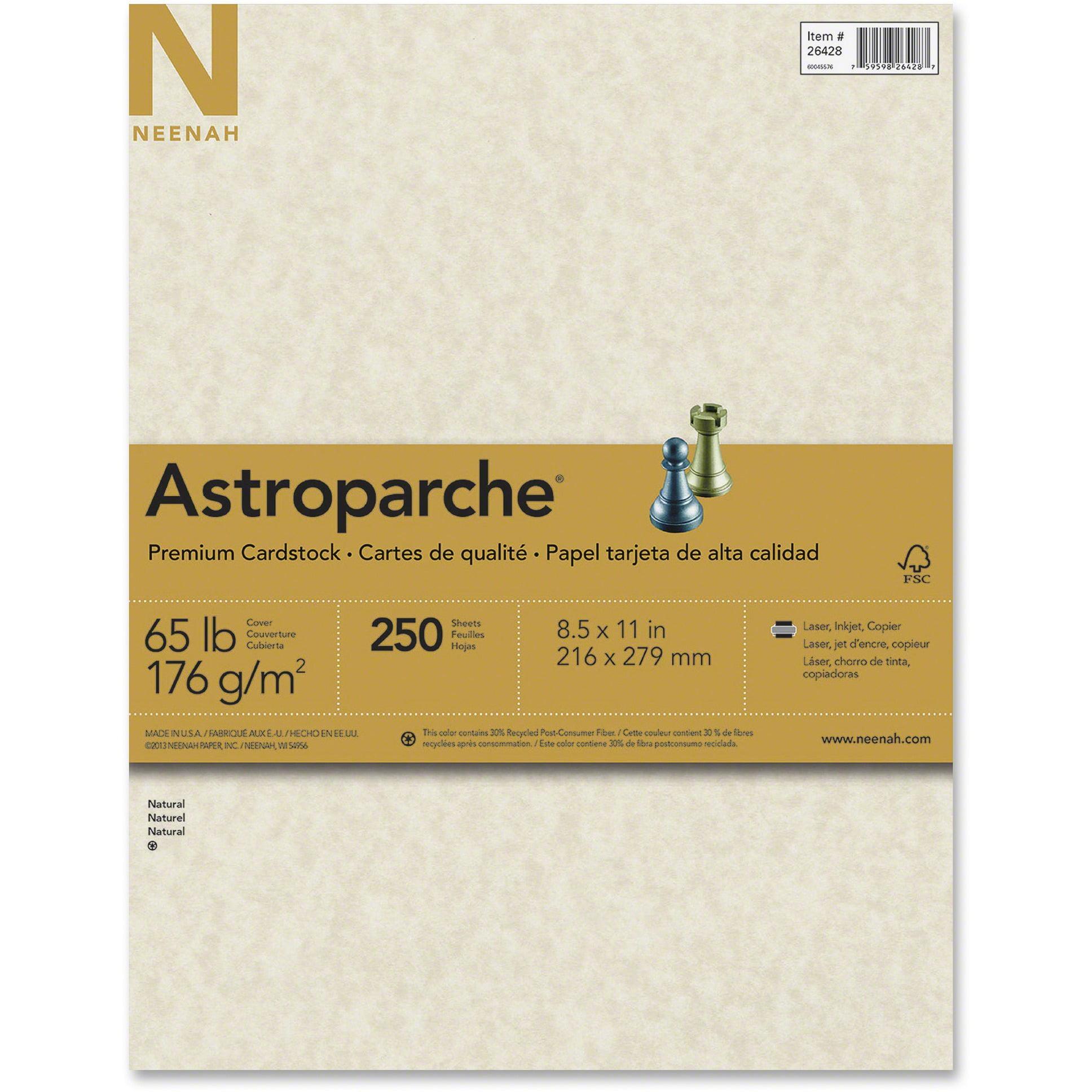 Astrobrights, WAU26428, Premium Cardstock, 250 / Pack, Natural