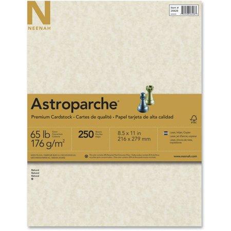 Astrobrights, WAU26428, Premium Cardstock, 250 / Pack, Natural (Fine Art Natural Paper)